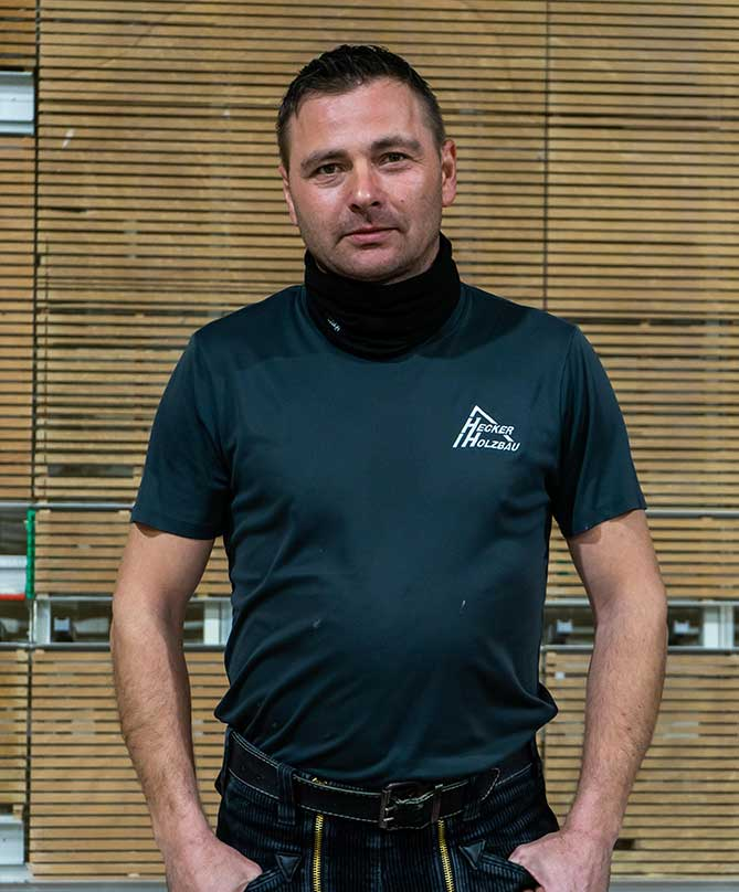 Mitarbeiter Hecker Holzbau - Istvan Kanabé